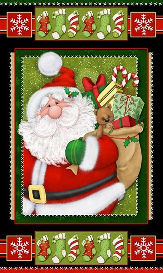 6402P-89 , Kringle Krossing by Shelly Comiskey of Simply Shelly Designs, Henry Glass & Co., Inc.