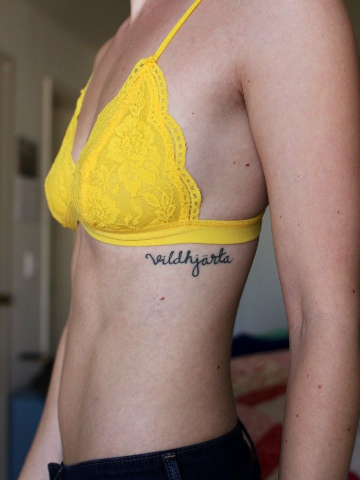 Vildhjärta - Wild Heart. Tattoo via Tattoologist// placement love