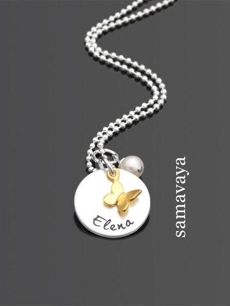 Ketten - Kinderschmuck mit Gravur SPRINGTIME GOLD 925 Kette - ein Designerstück von samavaya bei DaWanda