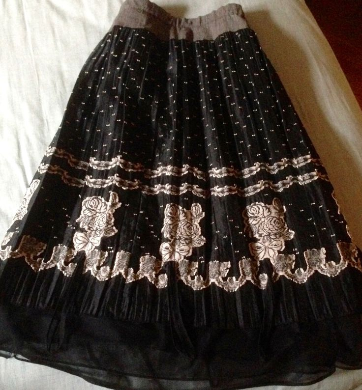Designer Skirt by Garnetfleuri on Etsy