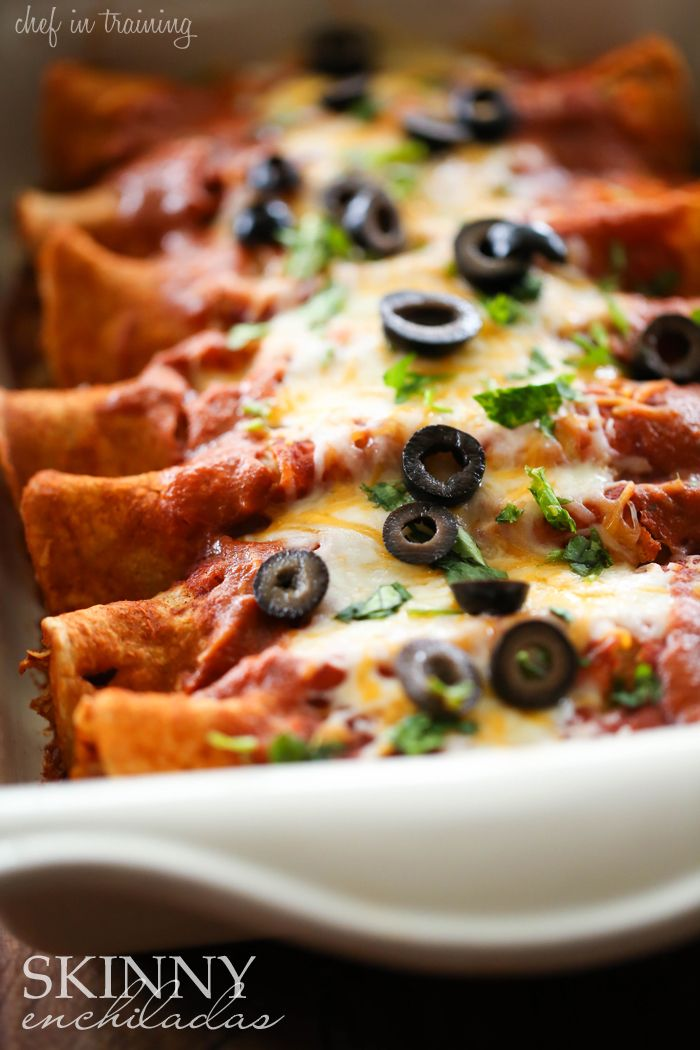 Any way to eat enchiladas guilt-free is much appreciated. Get the recipe from Chef in Training.    - Delish.com