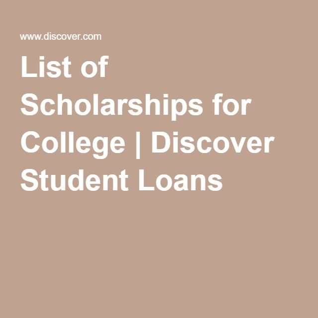 List of Scholarships for College | Discover Student Loans