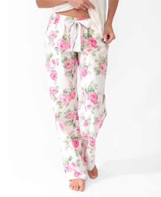 Rose PJ Pants | FOREVER21 - 2030187030