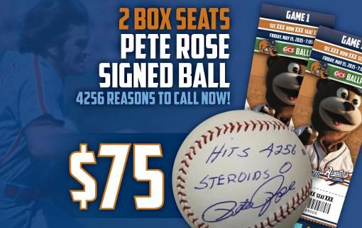 Gateway Grizzlies Opening Day Special #tickets #peterose #baseball