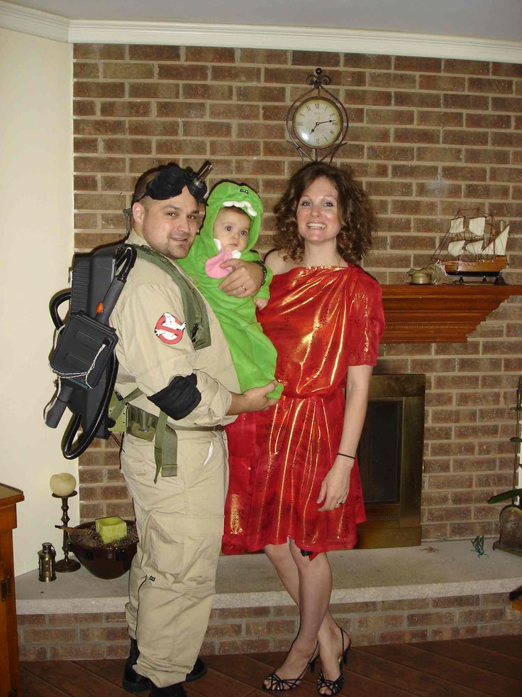 Peter Venkman, Slimer and Zuul (DIY costumes)
