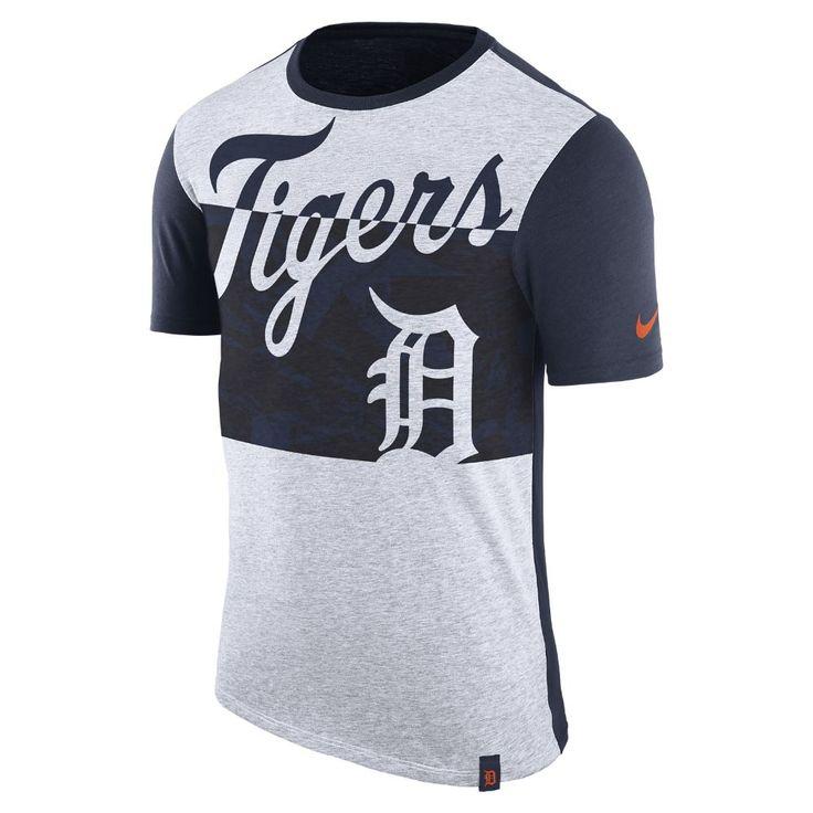 Nike Dri-Blend Sliced (MLB Tigers) Men's T-Shirt Size
