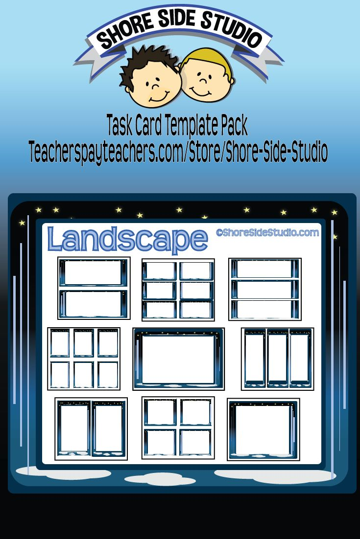 Shore Side Studio is proud to present our latest Task Card Templates. https://www.teacherspayteachers.com/Product/Task-Card-Templates-2364663