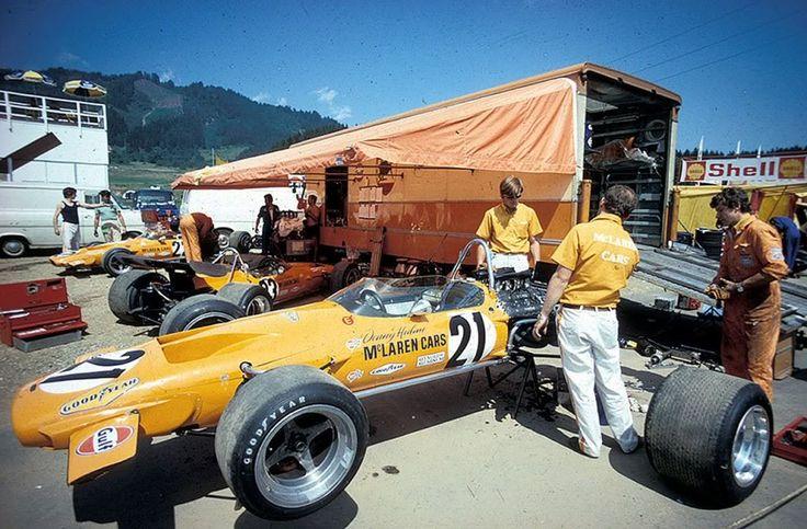 Bruce McLaren Motor Racing - Osterreichring 1970 #21 Denny Hulme - McLaren M14A #22 Andrea de Adamich - McLaren M14D #23 Peter Gethin - McLaren M14A