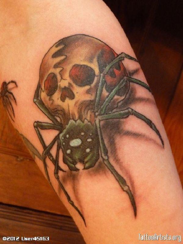 41 besten 40 spooky spider tattoos bilder auf pinterest spinnen t towierungen und totenk pfe. Black Bedroom Furniture Sets. Home Design Ideas