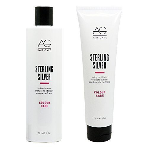 AG Hair Colour Care Sterling Silver Toning Shampoo 10oz and Conditioner 6oz Duo Set by AG Hair Cosmetics ** Read more reviews of the product by visiting the link on the image.