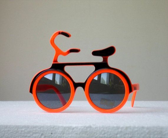 WOW 80s Bicycle Shaped Novelty Sunglasses From by Grunge0Glamour
