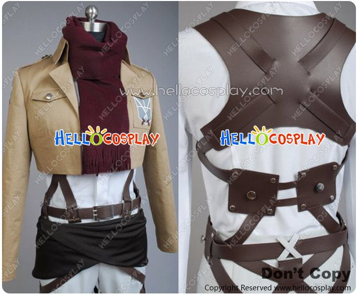Attack On Titan Cosplay Shingeki No Kyojin Mikasa Ackerman Costume