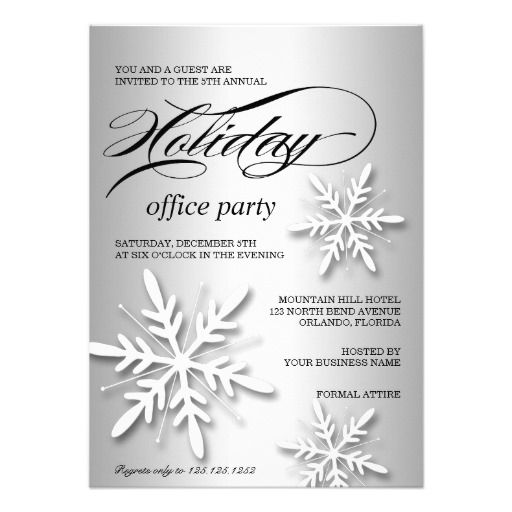 32 best Corporate Holiday Party Invitations images on Pinterest - business dinner invitation sample