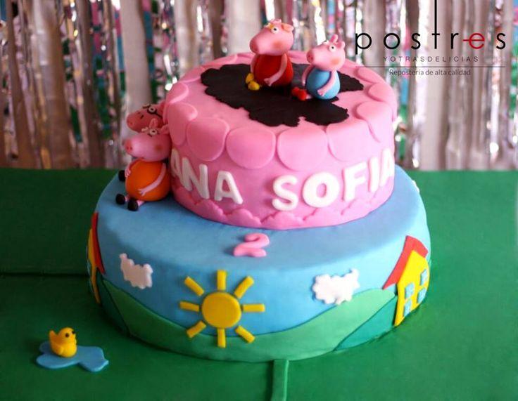 Torta Peppa #peppa #tortastematicas #postresyotrasdelicias