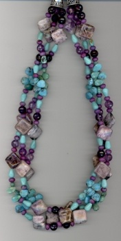 Rocki Gorman 3-Strand Sedona Rocks Necklace...