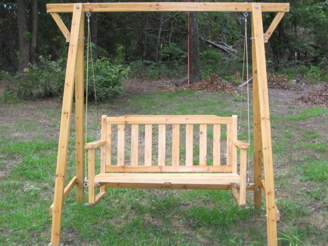 Porch patio wooden swing yard garden lounger rocking bench for Country porch coupon code