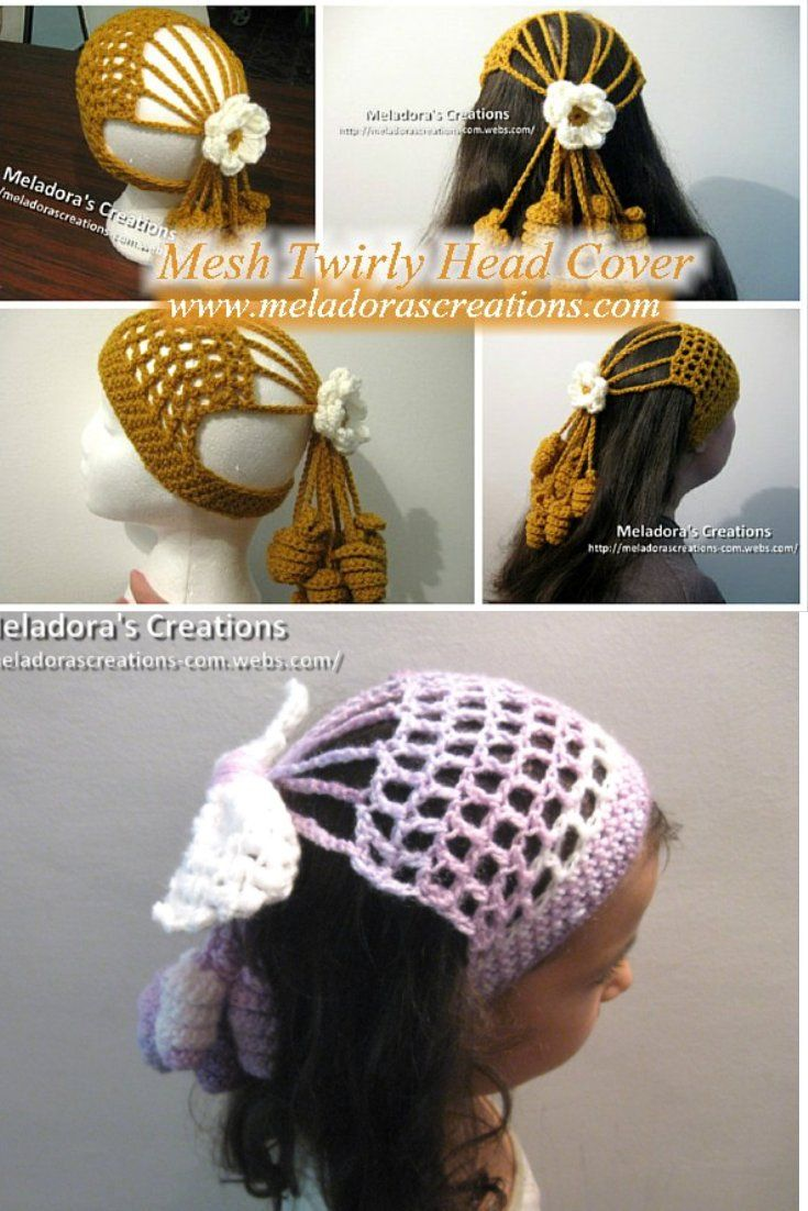 Your place to learn how to Crochet the Mesh Twirly Head Cover for FREE. by Meladora's Creations - Free Crochet Patterns and Video Tutorials