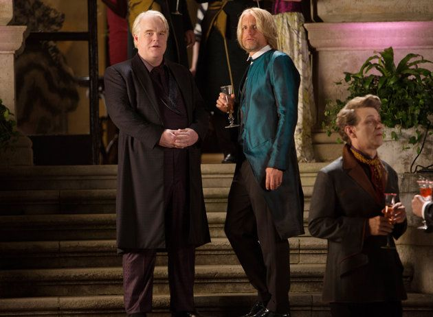 Philip Seymour Hoffman, left, and Woody Harrelson in 'Catching Fire' (Photo: Lionsgate/courtesy Everett Collection)