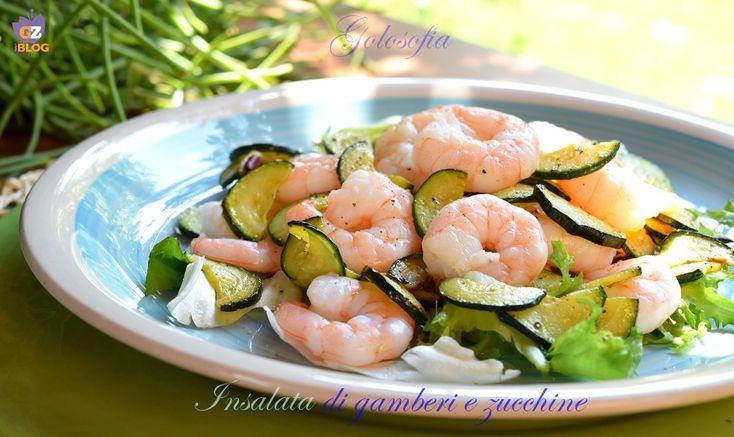 Insalata di gamberi e zucchine, leggerissimo e gustoso piatto, perfetto da gustare con l'arrivo della bella stagione! e mantenere la linea, con gusto!