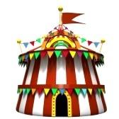 Ilustración de una carpa de circo stock photography