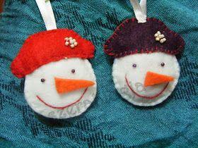 Szera blogja: Christmas ornaments - Snowman . . . . . . . Karácsonyi diszek - Hóember