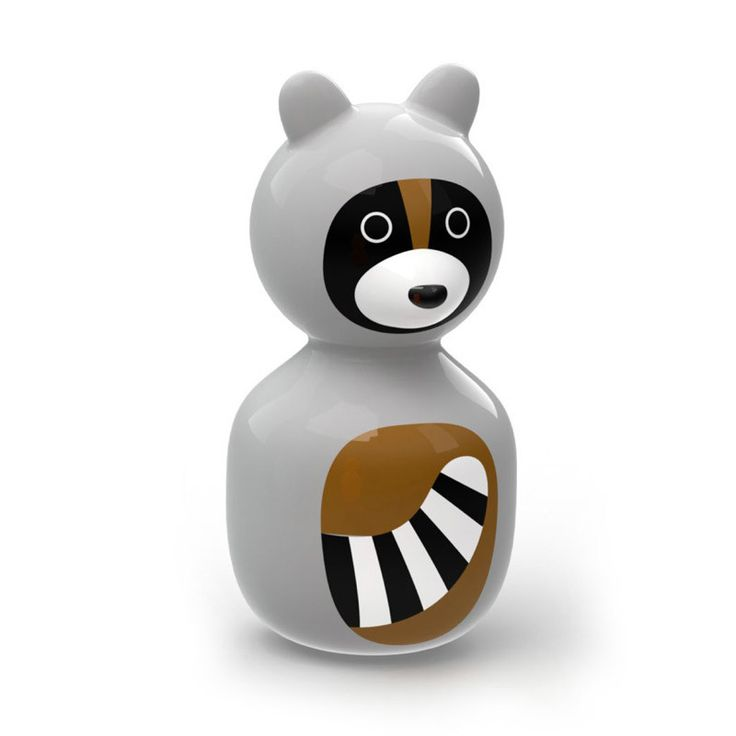 Gorgeous Raccoon Wobble Toy from the Kid O range by Tiger Tribe!  Push, pull or grab these colourful wobbling forest animals from Kid O - their round, weighted bottoms will always spin them back upright for more play.   #babytoys #babygifts #babyshower #babyshoponline #designerbaby #play #learn #create #kidstoys #tigertribe #littlebooteek