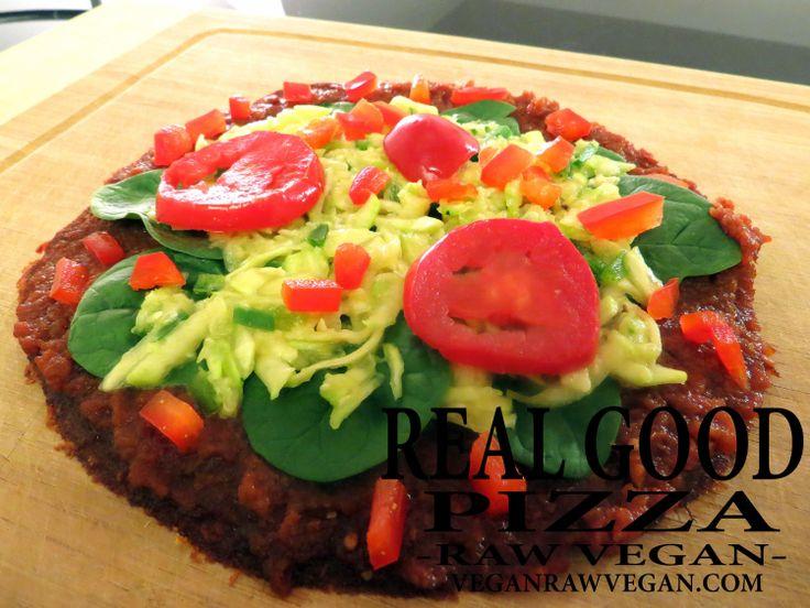 10 best vrvegan recipe videos images on pinterest recipe videos real good pizza raw vegan forumfinder Images