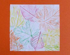 décor automne empreintes feuilles couleurs