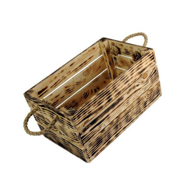 Skrzynka drewniana ozdobna 20x31 Opalana - marki LAAU - Skrzynki i pudełka