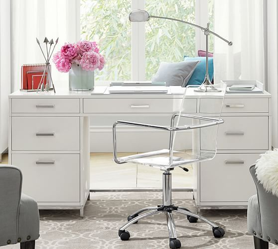 Ava Large Desk Pottery Barn Zeffren House In 2019 Home Office