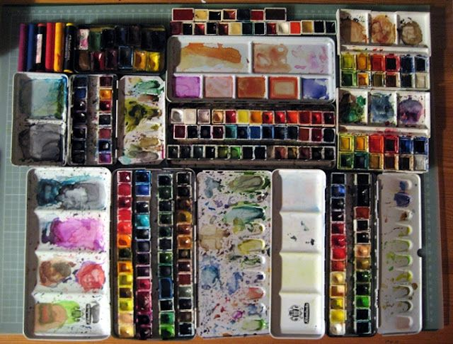 watercolor art supplies - makes me want to paint now