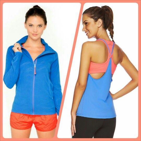 Loving Blue & Orange - Can't wait for cooler weather so I can wear this jacket! #ljwishlist @Lorna Jane