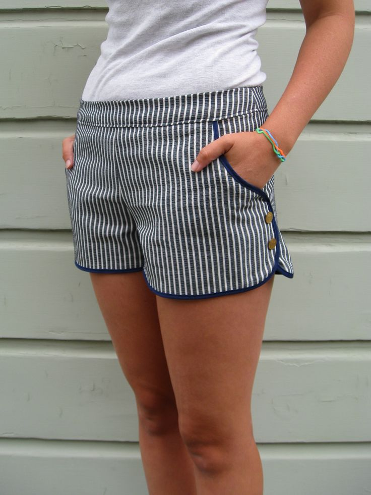 View details for the project Natty's Coin Button Shorts on BurdaStyle.