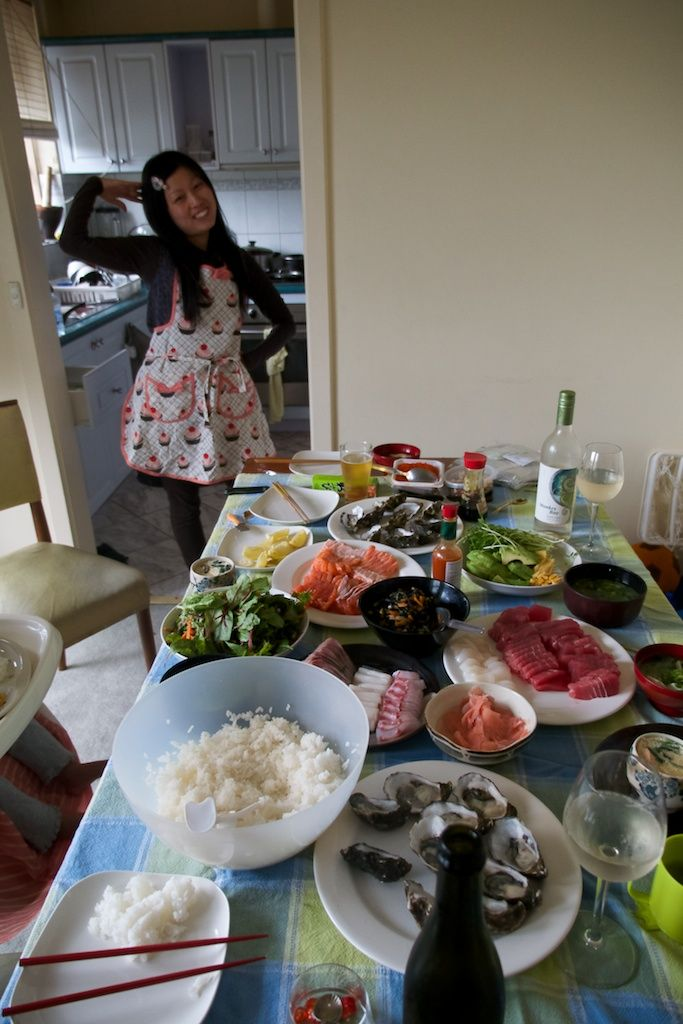 #food #astrology #japanese food #family #homemade food #sushi My sister in law laid out this feast in Melbourne. We share the same Bday. Our daughters were born same day and year!