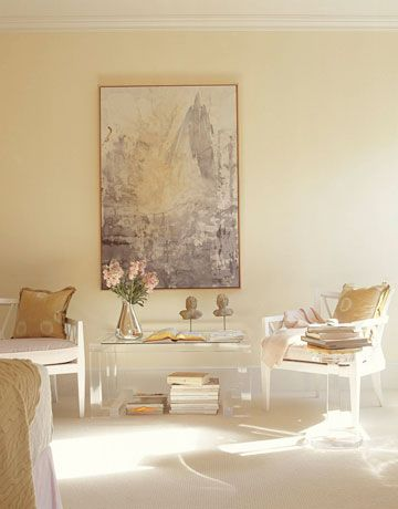 Farrow and Ball Paint Color - Tallow 203 - Painting with it now in our LR and DR. Gorgeous, classic cream. Very rich and warm with a lot of depth.