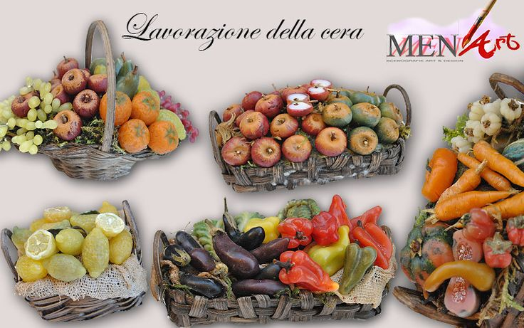 Cestini e minuteria in cera. Copyright by Menart