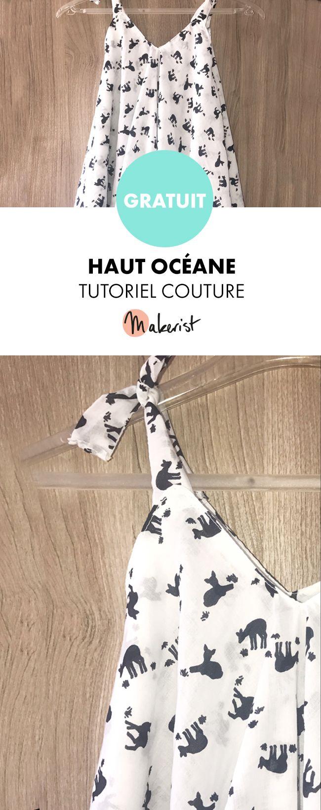 Haut Océane femme – Patron couture gratuit PDF sur Makerist.fr #couture #coudre…