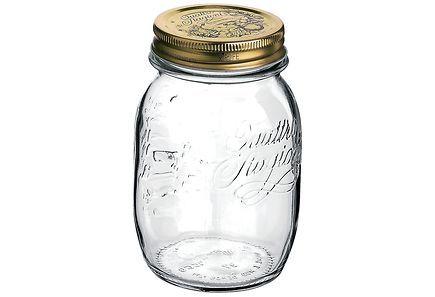 Kierrekantinen lasitölkki säilöntään. Tölkkiin kuuluvalla kannella mahdollista…
