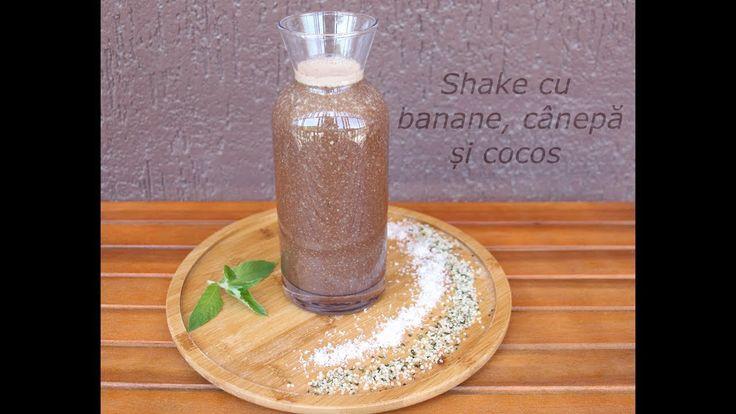 Shake cu banane, cânepă și cocos