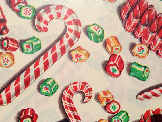 Vintage Christmas Gift Wrapping Paper  by TheGOOSEandTheHOUND, $13.00