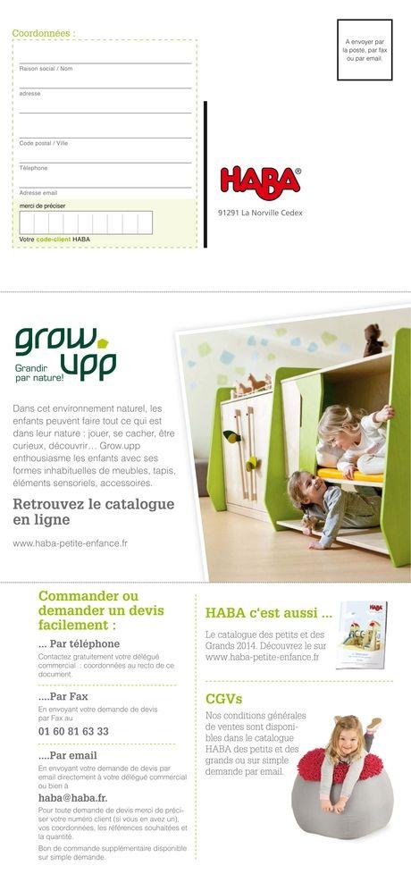 Haba - Catalogue Grow.upp – Grandir par nature