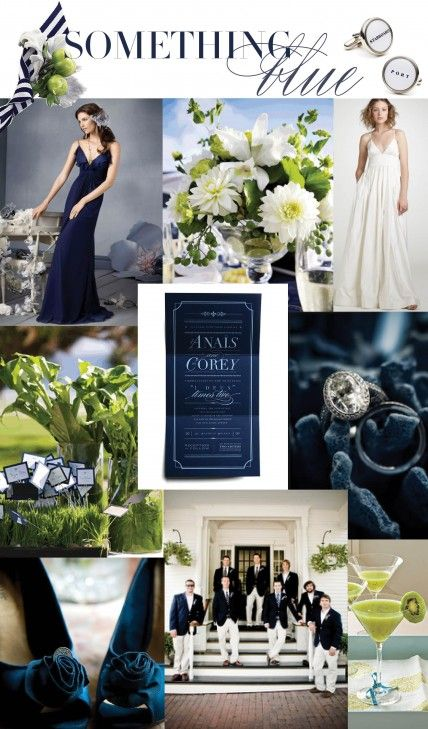 Navy and white wedding color trends