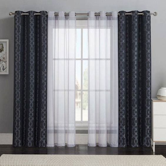 Beautiful Curtains Design Bold Patterns And Sheer Solids For The Living Room Windows