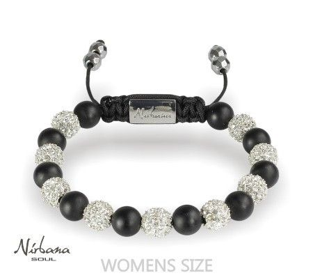 Nirbana Soul - Caress - Black and crystal agate Bracelet
