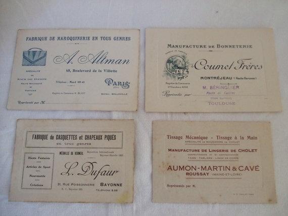 20 best vintage business cards images on pinterest vintage vintage french business cards reheart Gallery
