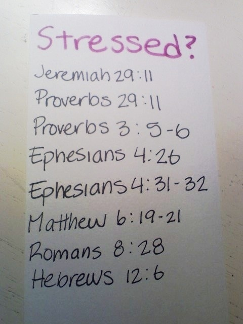 Verses to meditate on when you are stressed