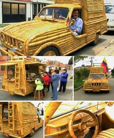 Amazing bamboo car