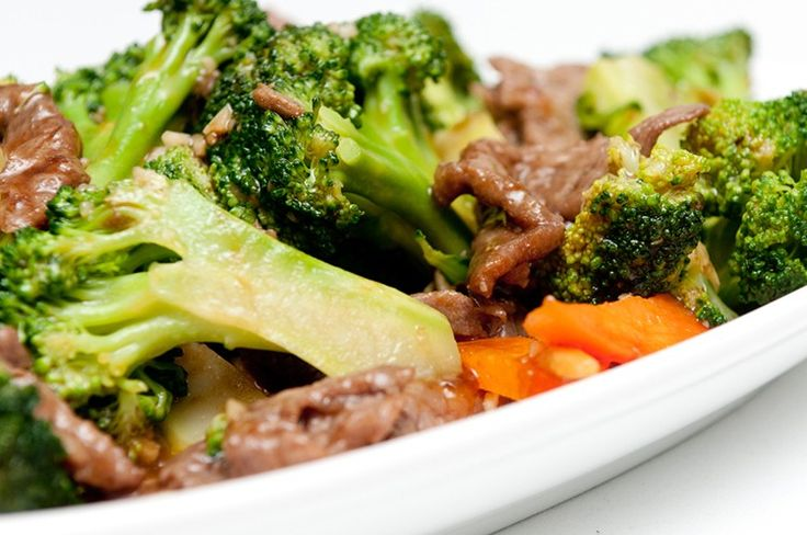 Asian Style Beef & Broccoli || Yields: 4 servings | Serving Size: 1/4 of recipe | Calories: 218