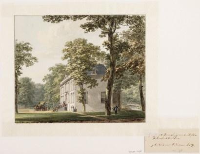 Collectie Provinciale Atlas, H. Numan, 1793 aankomst bij de buitenplaats Velserbeek