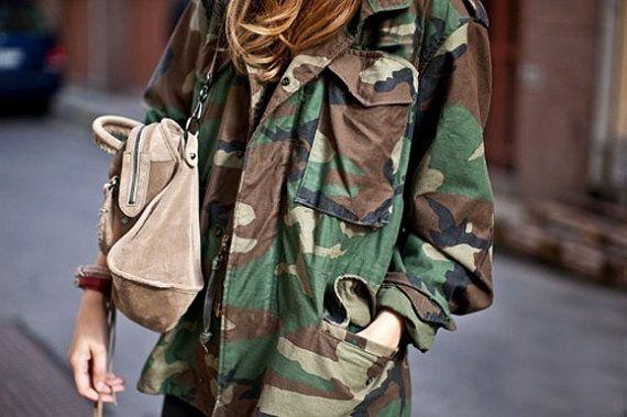 Camo Jacket / Vintage Army Jacket / Military by FiregypsyVintage